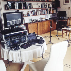 Ein Einblick in das Studio für die Aufnahmen des neuen Albums